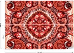 Fototapet GLIX - Red Pattern + adeziv GRATUIT Tapet nețesute - 254x184 cm