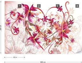 Fototapet GLIX - Flowers Abstract  + adeziv GRATUIT Papírová tapeta  - 254x184 cm