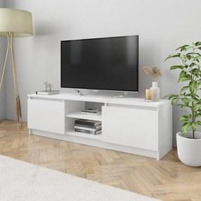 800573 vidaXL Comodă TV, alb extralucios, 120 x 30 x 35,5 cm, PAL