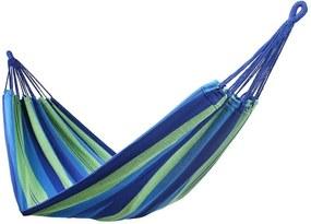 Hamac suspendat DecoKing Cotpoly, verde - albastru