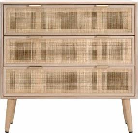 Comoda din lemn de frasin si MDF Mauro Ferretti Vienna - 80x78 cm