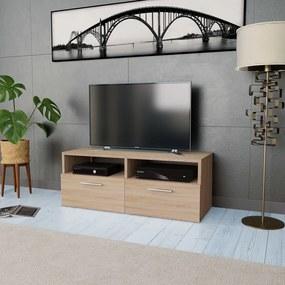 244868 vidaXL Comodă TV, PAL, 95 x 35 x 36 cm, culoarea stejarului
