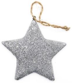 Ornament pentru bradul de Craciun stea argintie