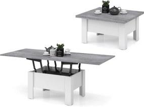 Mazzoni OSLO măsuță de cafea, beton (gri) / alb