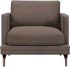 Fotoliu cu bază metalică Windsor & Co Sofas Jupiter, maro