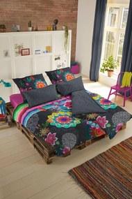 Home lenjerie de pat reversibila colorata pentru pat dublu Hip Tamaki 200x200/220cm