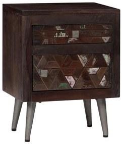 245916 vidaXL Noptieră, 40 x 30 x 50 cm, lemn masiv reciclat