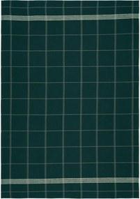 Prosop din bumbac pentru bucătărie Södahl Geometric, verde, 50 x 70 cm