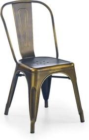 Scaun din metal K203 Yellow Copper, l43xA53xH84 cm
