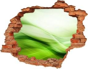 Autocolant 3D gaura cu priveliște Fundal valuri verzi