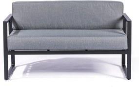 Canapea cu 2 locuri, adecvată pentru exterior Le Bonom Bellisima, gri grafit - negru