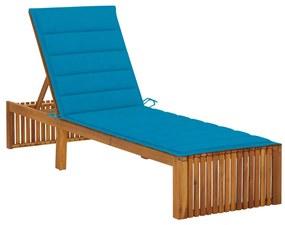 3064153 vidaXL Șezlong cu pernă, lemn masiv de acacia