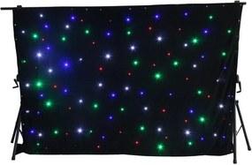 Perdea Beamz SparkleWall LED RGBW 96 3 x 2 m incl. controler de la distanță