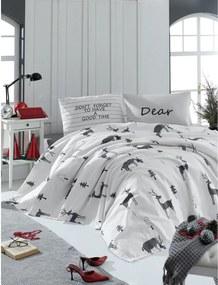 Cuvertură matlasată ușoară din bumbac pentru pat dublu Mijolnit GoodTime White, 140 x 200 cm, alb