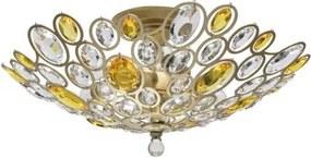 Lustra aplicata cristal stil elegant Laura auriu 6L