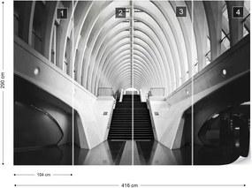 Fototapet GLIX - The New Station In Liege By Calatrava + adeziv GRATUIT Tapet nețesute - 254x184 cm