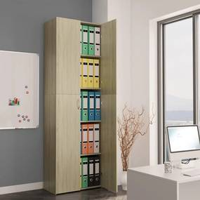 800300 vidaXL Dulap de birou, stejar Sonoma, 60x32x190 cm, PAL