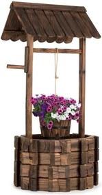 Blumfeldt Andernach, fântănă ornamentală, lemn de brad, cu pivoți rotunzi, maro