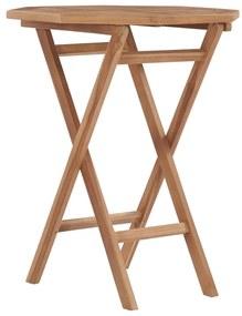 48995 vidaXL Masă de grădină pliabilă, 60 x 60 x 75 cm, lemn masiv de tec