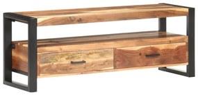 321551 vidaXL Comodă TV, 120 x 35 x 45 cm, lemn masiv cu finisaj sheesham