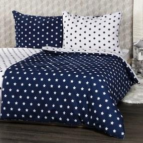 Lenjerie pat 1 pers. 4Home Stars Navy blue, 140 x 200 cm, 70 x 90 cm, 140 x 200 cm, 70 x 90 cm