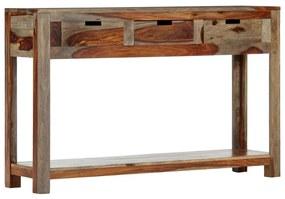 247753 vidaXL Masă consolă cu 3 sertare, 120x30x75 cm, lemn masiv de sheesham