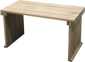 Masuta Karll din lemn, maro, L 80 x 40 x H45 cm