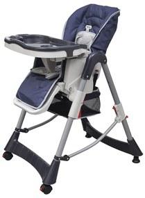 Scaun înalt pentru copii, Deluxe, albastru, înălțime reglabilă