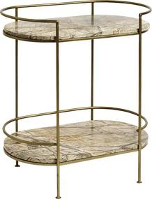 Masuta ovala Jungle Marble Gold Side Table