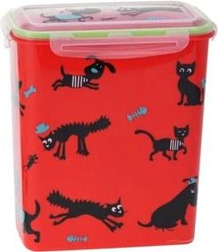 Cutie Cane, pentru păstrarea hranei de animale, roşu