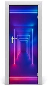 Autocolante pentru usi Autoadeziv Neon Blue Door
