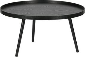 Măsuță de cafea WOOOD Mesa, ø 78 cm, negru