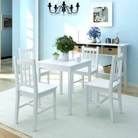 242957 vidaXL Set cu masă și scaune din lemn de pin, 5 piese