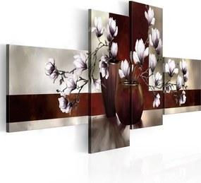 Tablou - Magnolias in a vase 100x45 cm