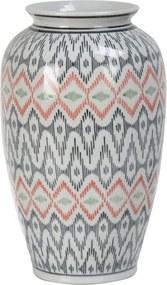 Vaza portelan multicolor Congo Ø 17 cm x 27 h