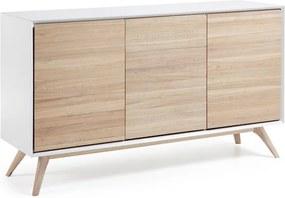 Comoda din lemn si MDF alb mat 154 cm Quatre La Forma
