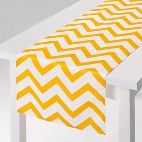Runner fata de masa 40x150cm Yellow Stripe