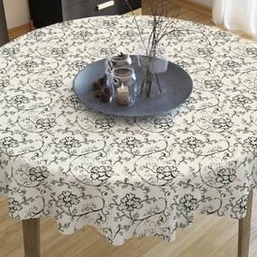 Goldea față de masă decorativă loneta - model 292 - rotundă Ø 70 cm