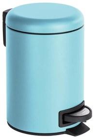 Coș de gunoi cu pedală Wenko Leman, 3 l, albastru deschis