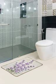 Covoras pentru baie Lavender Multicolor, 40 x 60 cm