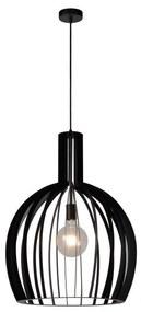 Lucide 73400/01/30 - Lampa suspendata MIKAELA 1xE27/60W/230V negru