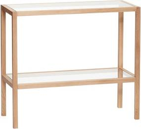 Etajera cu 2 rafturi din lemn si sticla 70 cm Shelves Hubsch