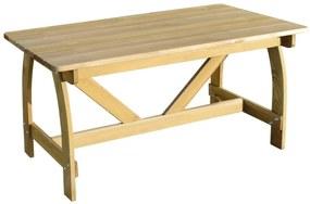 41962 vidaXL Masă de grădină, 150 x 74 x 75 cm, lemn de pin tratat