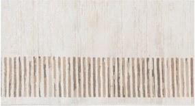 Covor din catifea Deri Makna Dijital Brown, 80 x 200 cm