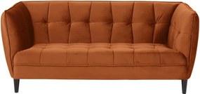 Canapea cu husă din catifea Actona Jonna, 182 cm, portocaliu