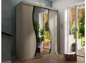 Expedo Dulap dormitor cu oglindă TALIA 9, 150x200x63, sonoma
