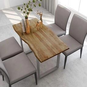 286479 vidaXL Masă de bucătărie, 118 x 58 x 76 cm, lemn masiv de acacia