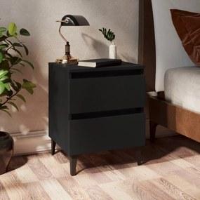 805871 vidaXL Noptieră, negru, 40x35x50 cm, PAL