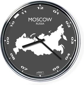 Ceas de birou (deschis sau întunecat) - Moscova / Rusia, diametru 32 cm | DSGN, Výběr barev Světlé