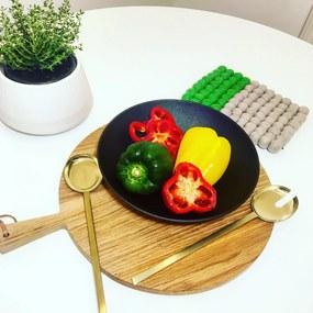 Set Linguri Aurii pentru Servit Salata - Inox Auriu latime(6cm) x lungime(30cm)